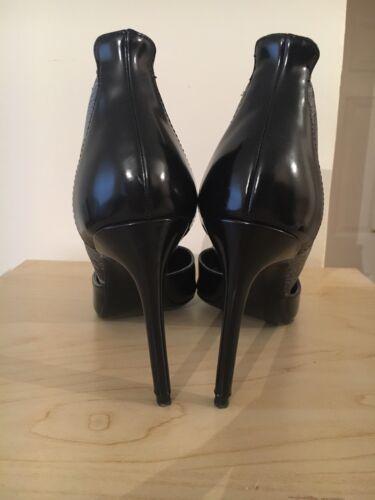Croc Leather Zara Blue Heels Patent Black Shoes 6 Court gSpaqEx