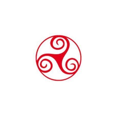 Autocollant triskèle triskell triskel Bretagne Brezih Celte rouge 8 cm