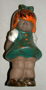 1930-039-s-German-Pottery-9-Inch-Figure-Of-A-Girl
