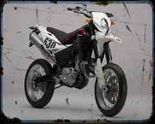 Husqvarna Sm 630 10 A4 Photo Print Motorbike Vintage Aged