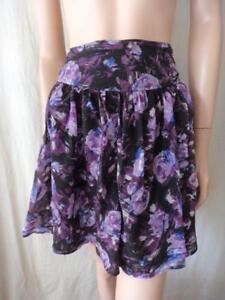 PORTMANS-Purple-Silk-Flared-Skirt-Sz-12
