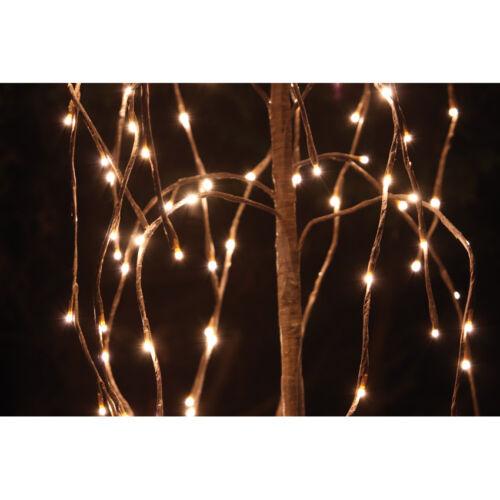 Weihnachtsdekoration Trauerweide Baum Licht Deko beleuchtet außen144LED warmweiß