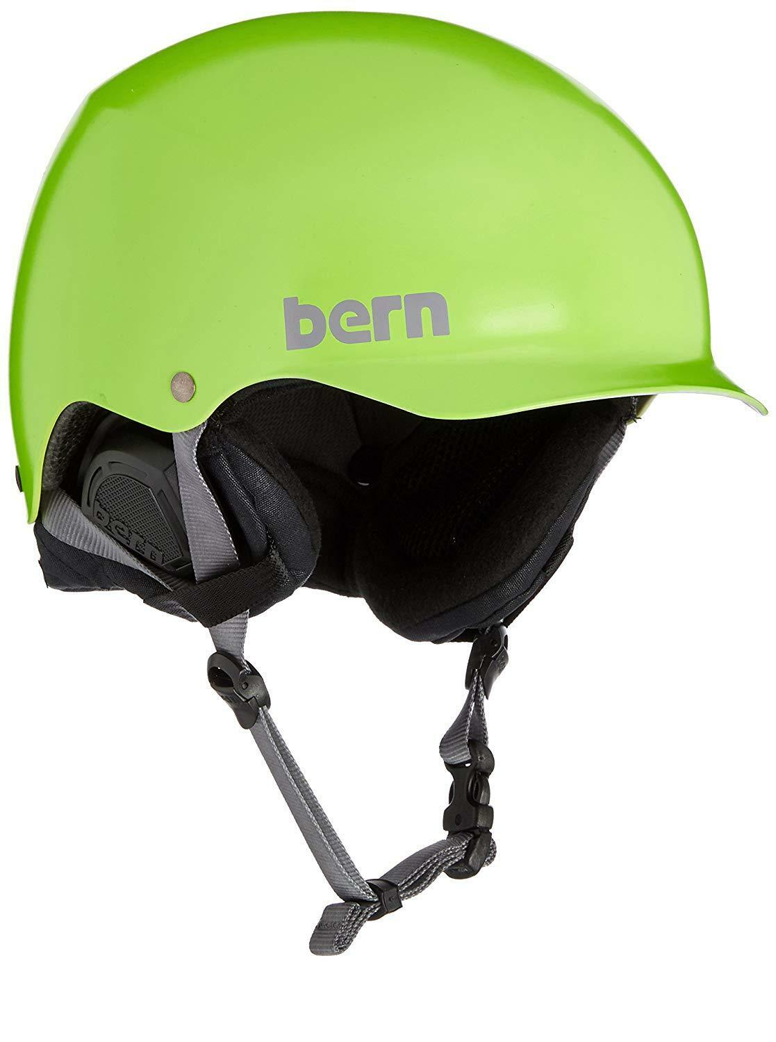 Men's Bern Baker EPS Snow Helmet Satin Neon Green S M