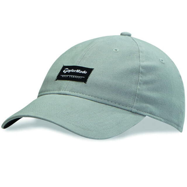 TaylorMade TM Label Cap Hat Headwear Grey Mens Size M l for sale ... a5c091faf