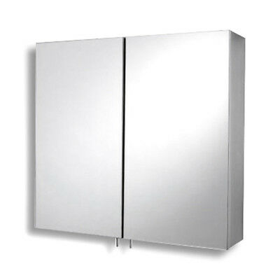 Stainless Steel Mirrored Double Door Cabinet Wall Hung 600 mm Mirror Bathroom