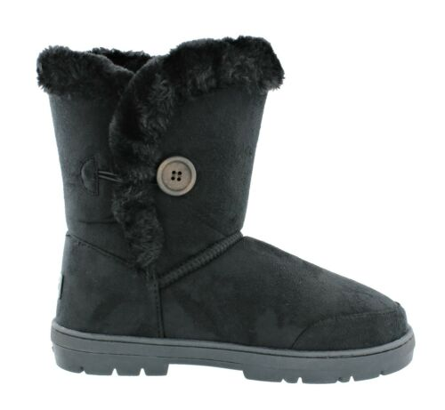 Womens Ladies Ella Nina Faux Sheepskin Look Fur Lined Low Warm Boots