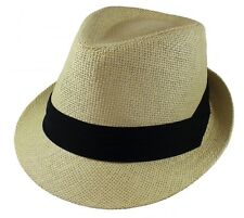 b958d5e7bcddf Gelante Unisex Summer Fedora Panama Straw Hats with Band (Ship in a BOX)