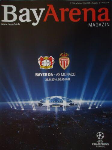 AS Monaco Programm UEFA CL 2014//15 Bayer Leverkusen