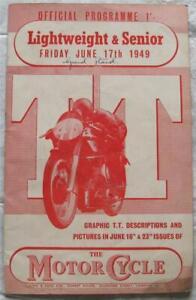 ISLE OF MAN TT 17 Jun 1949 Lightweight Senior Race Official Programme