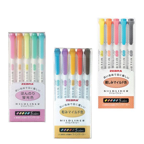 15 Color - Zebra Mildliner Soft Color Double-Sided Highlighter Marker 5C RC N5C