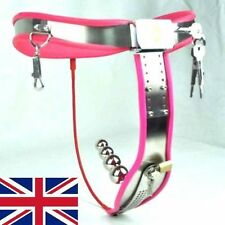 Full-Female-Chastity-Belt-Device-Stainless-Steal-Heavy-Duty-PINK65-90-cms