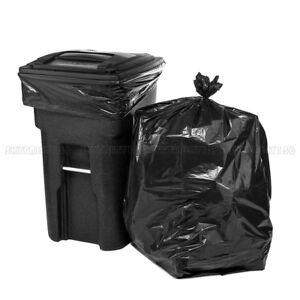 50pcs-64-Gallon-Black-Trash-Bags-Heave-Duty-Big-Garbage-Rubbish-Bag-130-150cm