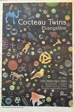 """COCTEAU TWINS EVANGELINE ORIGINAL ADVERT 16 X 12"""" POSTER SIZE 25 SEP 1993"""