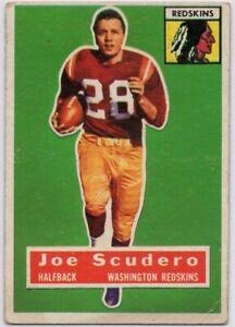 1956-Topps-85-SP-Rookie-Joe-Scudero-VG-VGEX-Washington-Redskins-FREE-SHIPPING