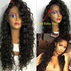 Glueless Brazilian Human Hair Lace Front Wig Full Lace Wigs curly baby hair