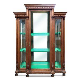 waffenschrank vitrinenschrank kristallglas historismus vitrine ebay. Black Bedroom Furniture Sets. Home Design Ideas