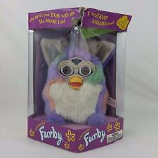 Vintage 1999 Furby Tie Dye White Purple Green Model 70-800 Tiger Electronics