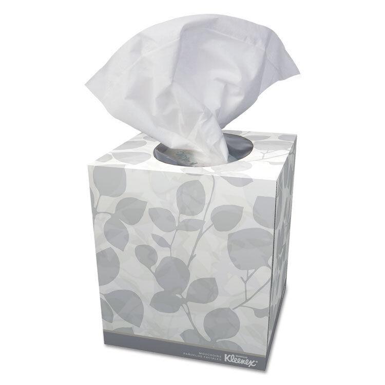 Kleenex Boutique White Facial Tissue 2-Ply Pop-Up Box 95 Box 36 Boxes Carton