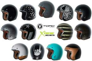 Torc T50 Helmet 3/4 Open Face Motorcycle 3 Snap DOT XS-2XL 2020-21 Line