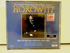 Vladimir Horowitz 2 CD set Studio Recordings '62-'63, Vol.1, S2K 53457, 1993