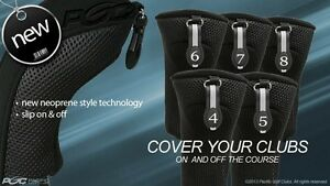 HYBRID-HEAD-COVERS-FULL-COMPLETE-4-5-6-7-8-SET-THICK-GOLF-CLUB-BLACK-HEADCOVER