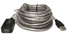 50FT High Speed 480Mbps USB 2.0 Active Repeater M/F Extension Cable Adapter Cord