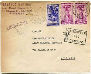 1951-Italia-al-Lavoro-RACCOMANDATA-Fernando-Manzuoli-Binazzi-Biagiotti-Firenze