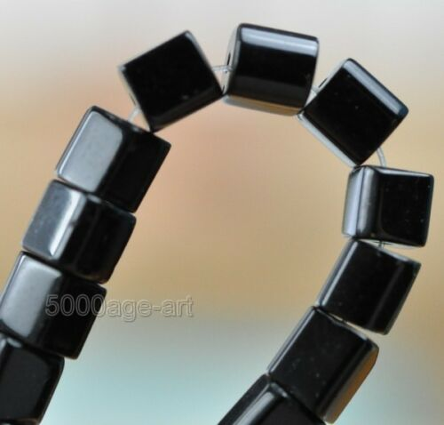 free ship 160pcs black charm  square Glass Spacer bead 4x4mm