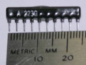 100-22K-2-10-Pin-SIP-9-Resistor-Network