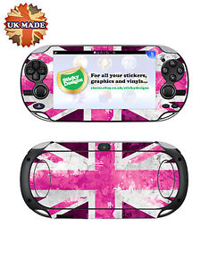 Pink Ps Vita Union Jack Vinyl Skin Decal   Playstation Vita Skin Stickers