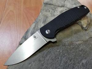 kizer gemini linerlock black g10 folding knife vg 10 7 stonewashed