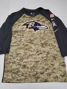 Baltimore-Ravens-NFL-Nike-Dri-Fit-3-4-Sleeve-Salute-To-Service-T-Shirt-Medium