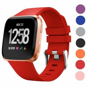Cheap Sale Soft Silicone Wear Resistant Replacement Wristband Classic Strap Colorful Sport Watch Band Casual Flexible For Fitbit Versa Home