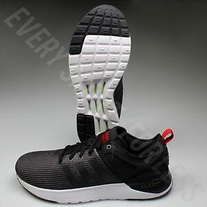 adidas cloudfoam super racer aw4163 uomini scarpe da corsa nero / rosso