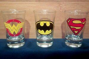 DC Comics WONDER WOMAN 4 Piece 1.5oz BOXED SHOT GLASS SET