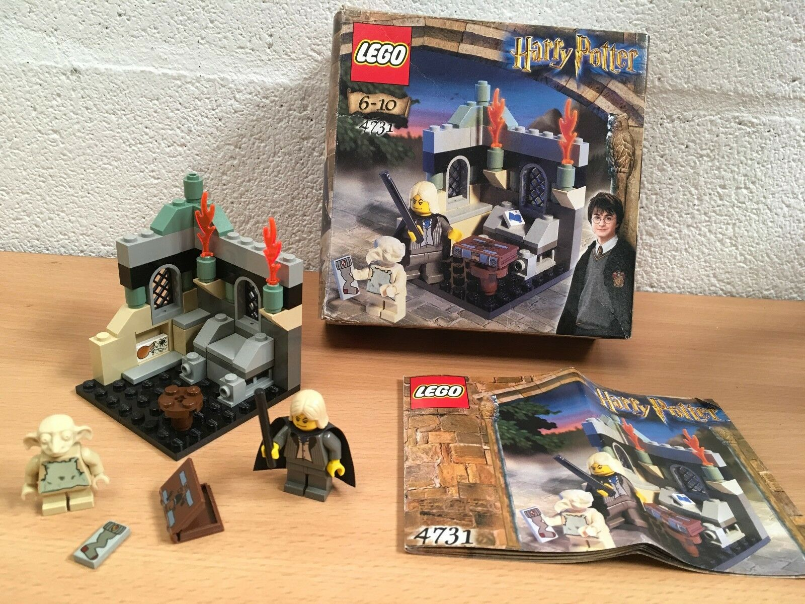 HARRY POTTER LEGO 4731 DOBBY'S RELEASE COMPLETE BOXED VGC