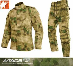 A-TACS-AU-FG-BDU-Military-Uniform-Shirt-Pants-Hunting-Airsoft-Tactical-Suit-Set