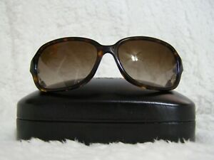 Coach Kissing C Rectangle Sunglasses (Dark Tortoise)-NWT