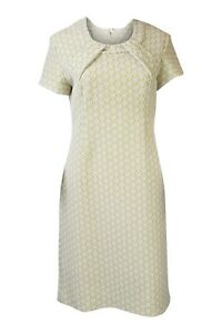 UNBRANDED-LIME-GREEN-AND-WHITE-GEOMETRIC-DRESS