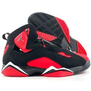 Nike Air Jordan True Flight Black Chrome University Red CU4933-001 Men's 8.5