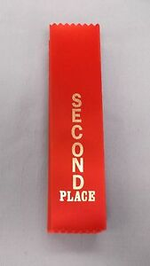 2nd-SECOND-Place-red-award-ribbons-wholesale-lot-of-7