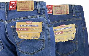 Jeans uomo 5 tasche regular pantaloni cotone denim invernale tg da46 a62 Carrera