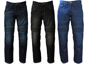 Avvento-Men-039-s-Motorcycle-Motorbike-Jeans-Biker-Denim-Trousers-Protective-Lining