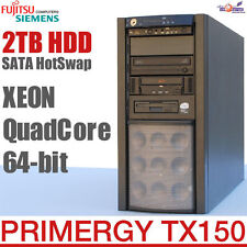 64-BIT QUADCORE PROFI SERVER FSC PRIMERGY TX150 S6 RAID HOTSWAP 2TB HDD TAPE OK!
