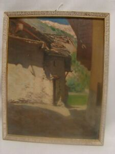 Courmayeur-Aosta-Eugenio-Berloquin-Ol-auf-Karton-1937-Valle-D-039-Aosta
