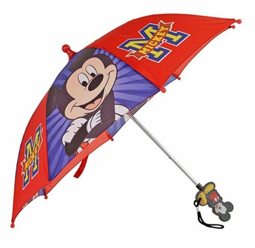 """Disney Mickey Mouse Boy/'s 21/"""" Red and Blue Umbrella"""