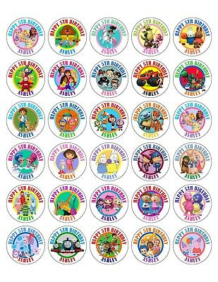 30 Nick Jr Junior Birthday Stickers Lollipop Labels Party Favors 1.5 in YOU PICK