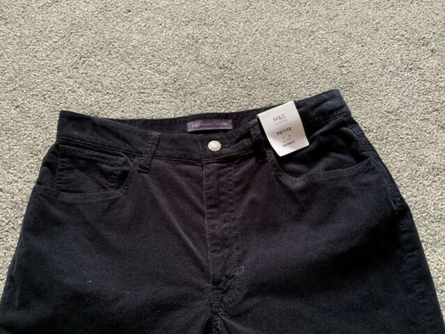 M/&s Navy Mid Rise Skinny Cord Trouser Pants Size 18 XS  BNWT Free Sameday P/&p