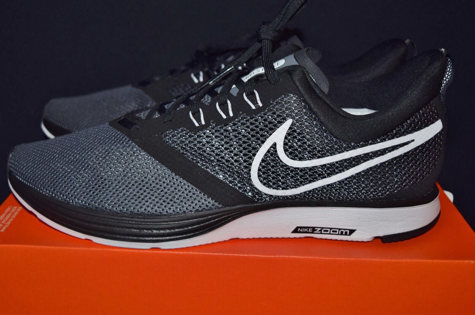 6594b5eecf4a8 New Nike Zoom Strike Mens Running Shoes Sz Sz Sz 11.5 Black White 1b1e93