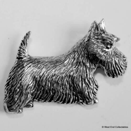 British Hand Crafted Scottie Aberdeen Dog Scottish Terrier Pewter Pin Brooch